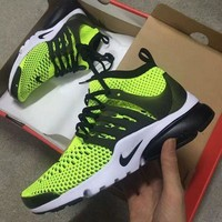 Nike Air Presto Flyknit Ultra Fashion Trending Casual Running Sneakers Sport Shoes Dark Blue Green G