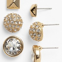 Lydell NYC 'Preppy' Boxed Stud Earrings (Set of 3) | Nordstrom