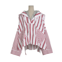 Faux Layer Hooded Top