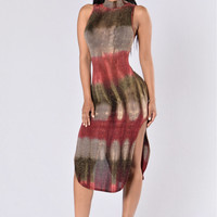 Get Into the Spirit Dress - Red