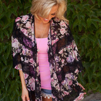 Flowers and Lace Kimono spring