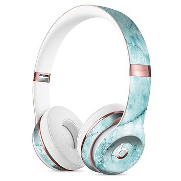 Cracked Turquise Marble Surface Full-Body Skin Kit for the Beats by Dre Solo 3 Wireless Headphones