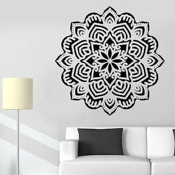 Wall Sticker Mandala Buddha Buddhism Meditation Vinyl Decal Unique Gift (z2922)