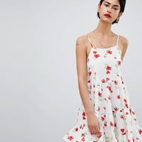 Missguided Cami Strap Floral Smock Dress at asos.com