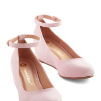 ModCloth Minimal Take a Stride With Me Wedge in Petal