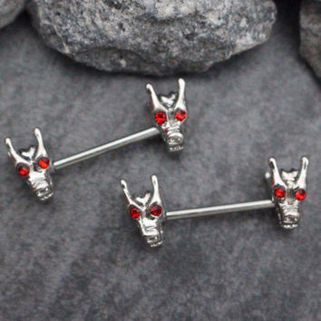 Tribal Dragon Barbell