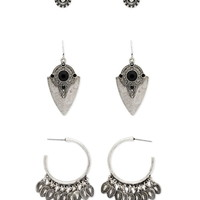 Mixed Etched Earring Set