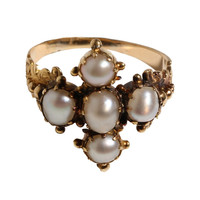 Early 19th Century Georgian Pearl Ring