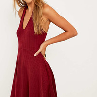 Pins & Needles Ribbed Halter Neck Flippy Dress - Urban Outfitters