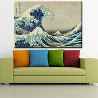 Great Wave off Katsushika Hokusai wall Picture For living Room oil painting wall art Print wall painting  No Framed