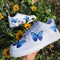 """Nike Air Force 1 """"Butterfly"""" casual low top shoe"""