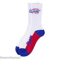 Los Angeles Clippers #506 White Crew Socks Adult Size 10-13