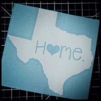 Texas Home Decal   Texas Decal   Homestate Decals   Love Sticker   Love Decal    Car Decal   Car Stickers   083