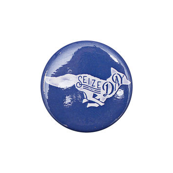 Seize the Day Navy Button