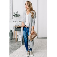Sweet Romance Heather Grey Duster Cardigan