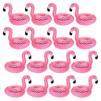 12 PC Flamingo Inflatable Party Pool Drink Floats