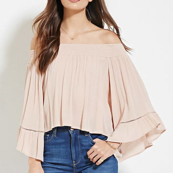 Contemporary Crinkled Gauze Top | Forever 21 - 2000185328