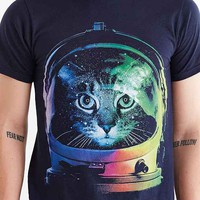 Design By Humans Astronaut Cat Tee