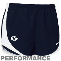 Nike Brigham Young Cougars Ladies Navy Blue Dri-FIT Tempo Performance Training Shorts