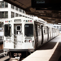 black and white art print Chicago art print back and white photography art travel poster Chicago train Loop 4x6 5x7 6x8 8x10 10x15