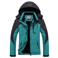 Fur Waterproof Camping Hiking Jacket Women Winter Outdoor Windbreaker Sports Rain Coat Thermal Ski Jackets,AW133