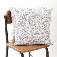 Forever Mountains Linen-Cotton Pillow Cover