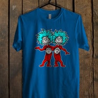 Thing 1 Thing 2 Dr Seuss Blue For Mens T Shirt and Womens T Shirt *76*