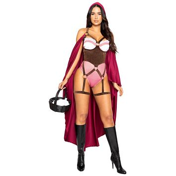 Sexy Little Red Romper and Cape Halloween Costume