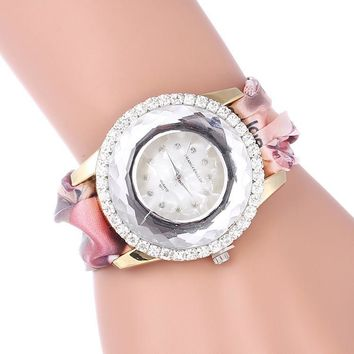 Ladies Floral Watch Bracelet Watch [8278694913]