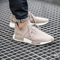 Adidas NMD R1 PK Cream S81848 Boost Sport Running Shoes Classic Casual Shoes Sneakers