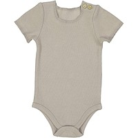 Lil Leggs Unisex-Baby Taupe Ribbed Onesuit