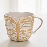 Butterfly-Shaped Mug | Urban Outfitters