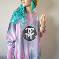 Dripping CC Astral Pink Dye Jumper