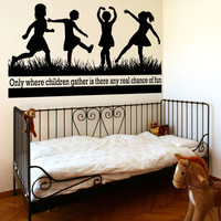 Vinyl Wall Decal Sticker Children Fun Quote #OS_AA1520
