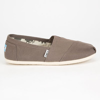 Toms Womens Canvas Classic Slip-Ons Light Grey  In Sizes