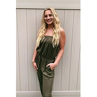 Olive You Jumpsuit - Olive green