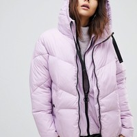 River Island Double Layer Padded Jacket at asos.com