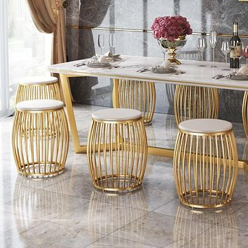 Drum Design Dining Table Set For Luxury Decoration And Comfort