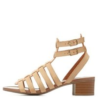 Strappy Low Heel Gladiator Sandals by Charlotte Russe