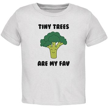 Vegetable Broccoli Tiny Trees are My Favorite Funny Baby Crewneck T Shirt