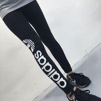 """Adidas"" Women Clover Letter Print Casual Long Pants Sweatpants Yoga Pants"