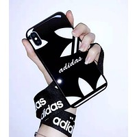 Adidas Fashion Couple iPhone Phone Cover Case For iphone 6 6s 6plus 6s-plus 7 7plus iPhone X XR XS XS MAX Black