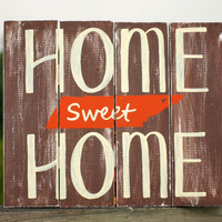 Home Sweet Home Tennessee Pallet Inspired Wall WoodenBlock Plaque Art