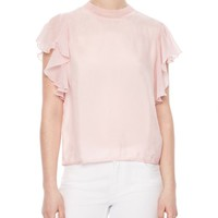 Sandro Anais Flutter-Sleeve Top   Bloomingdales's