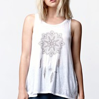 O'Neill Catching Dreams Scoop Neck Muscle Tank Top - Womens Tee - White