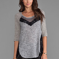 Free People Mix It Up Hacci in Grey Heather from REVOLVEclothing.com