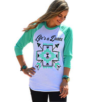 Women Floral Printed Floral Printed Long Sleeve T-Shirt _ 10641