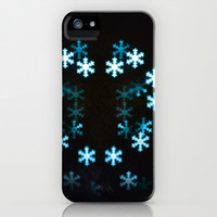 Christmas snowflakes iPhone & iPod Case by Design Windmill