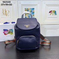 HCXX 19June 678 Prada Super Space Backpack 27-19-32 blue