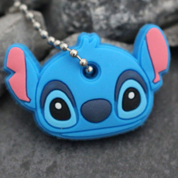 Lilo and Stitch Keychain, Silicone Key Cap, Kawaii Key Cover, Cute Key Chain, Key Fob, Rubber Keycap, Silicone Car Keycover, Gift for Her